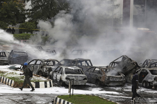 Abuja Police Headquarters after the Boko Haram attack