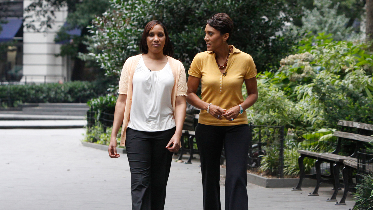 Image: Nafissatou Diallo, left, with reporter Robin Roberts