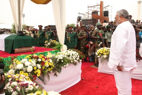 jerry rawlings pays his respect