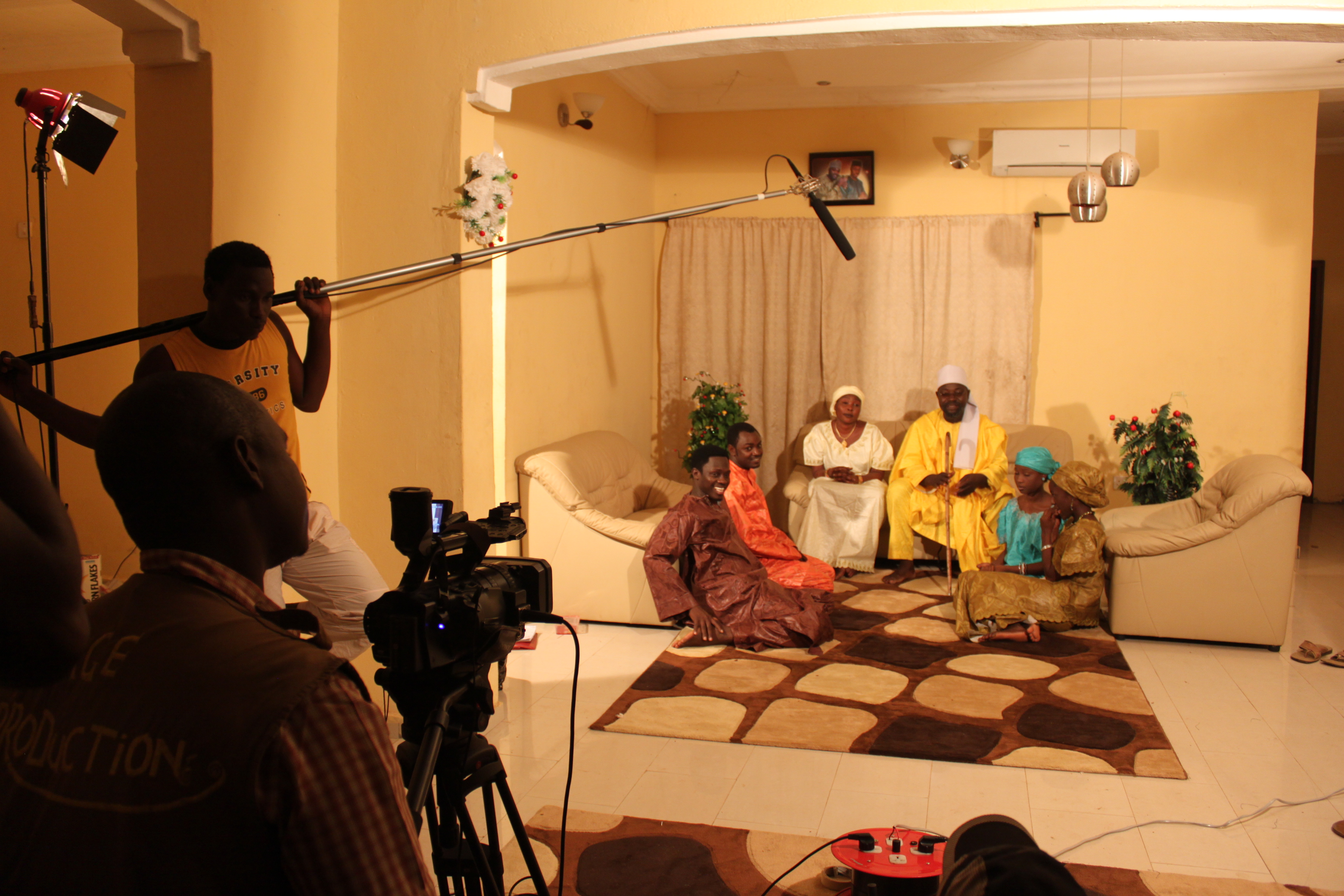 On set of the film Mutallab, directed by Aminu Saira and produced by Nasir Gwangwazo (c) Carmen McCain